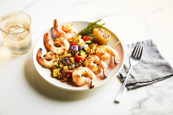 Grilled Rosemary Shrimp Skewers