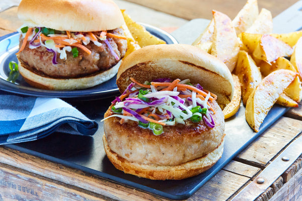 Asian BBQ Turkey Burgers