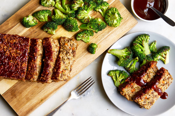 Lentil Loaf with Roasted Broccoli