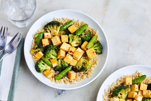 Tofu, Broccoli, Brown Rice Teriyaki Bowl