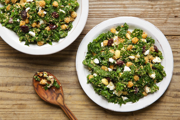 Kale, Quinoa, and Dried Cherry Salad