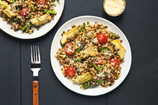 Warm Farro and Lentil Salad