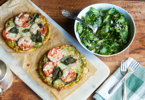 Tomato and Basil Flatbread Pizza