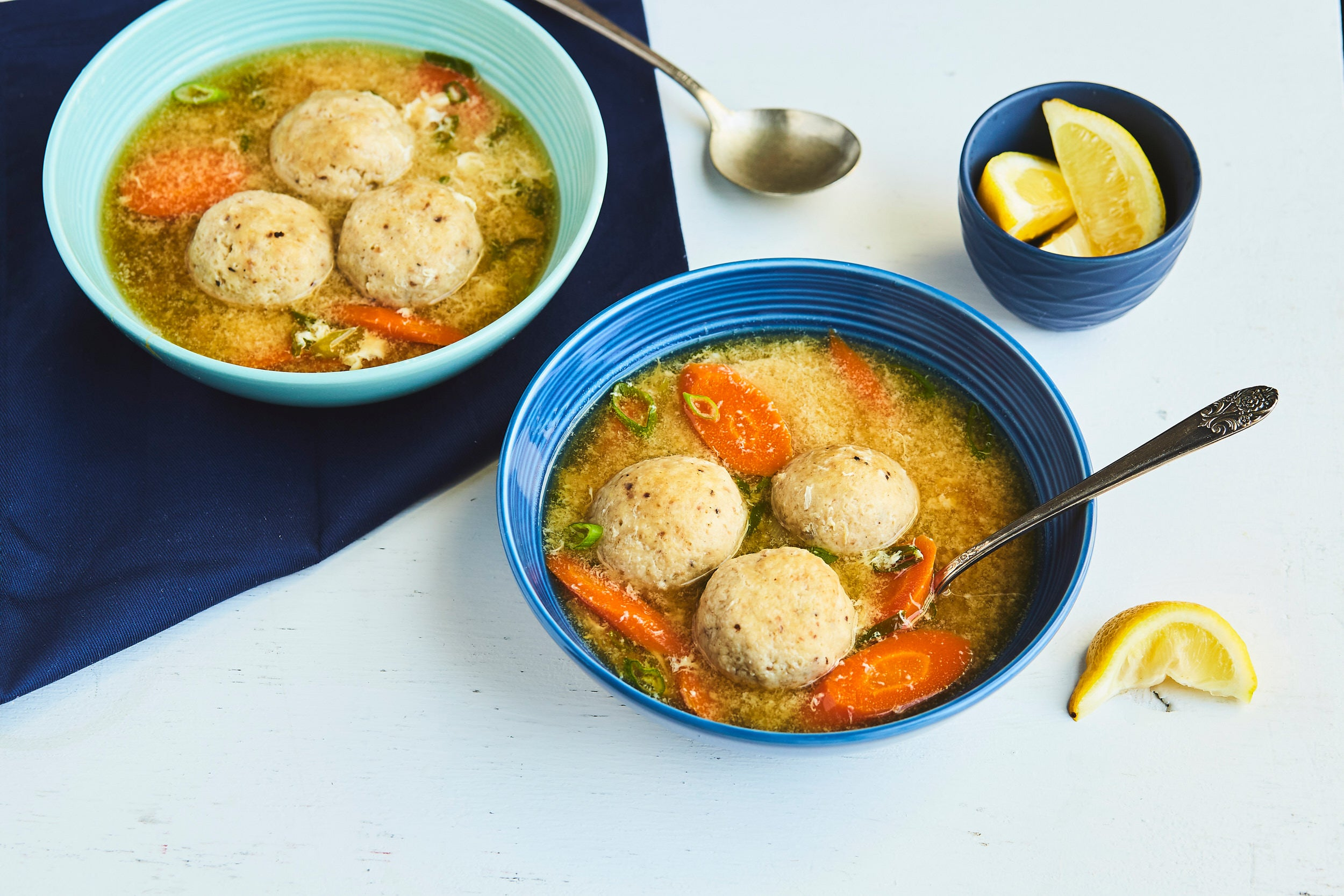 Matzo Ball Egg Drop Soup