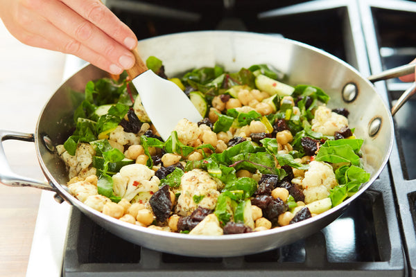 Pan-Roasted Cauliflower and Chickpeas