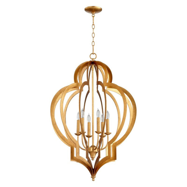 Cyan Design Vertigo Small Chandelier in Gold Leaf