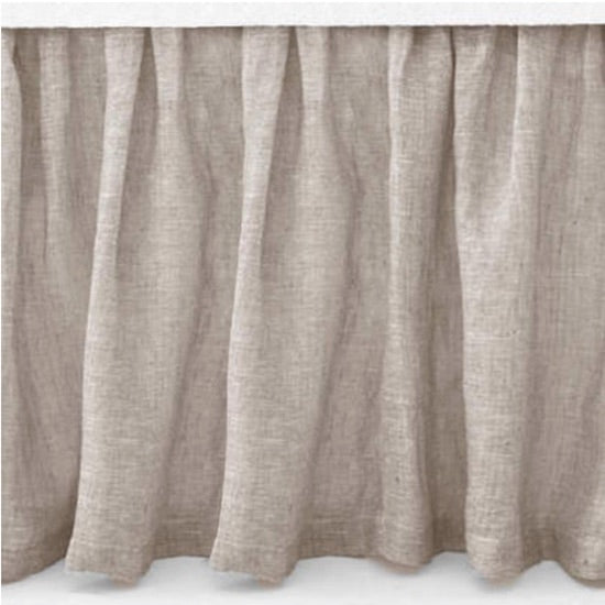 Pine Cone Hill Savannah Linen Chambray Bedskirt in Dove Grey