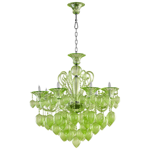 Cyan Bella Vetro 8 Light Chandelier