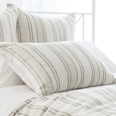 Pine Cone Hill Hampton Ticking Linen Natural Sham