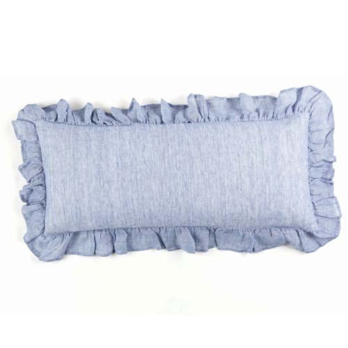 Pine Cone Hill Savannah Linen Chambray French Blue Decorative Pillow