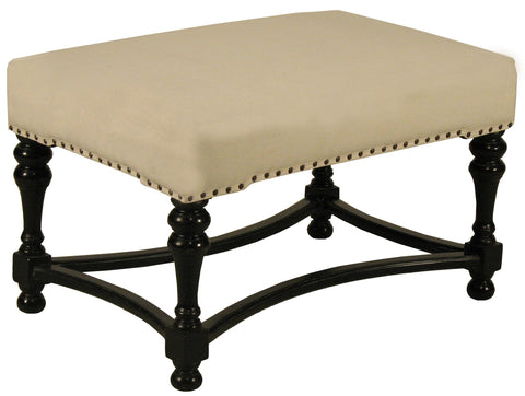 NOIR Bourbon Stool, Hand Rubbed in Black