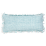 Pine Cone Hill Laundered Linen Sky Decorative Pillow