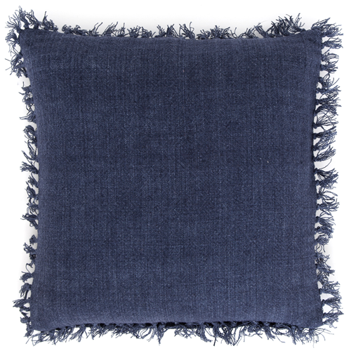 Pine Cone Hill Laundered Linen Indigo Square Decorative Pillow