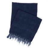 Pine Cone Hill Laundered Linen Indigo Throw