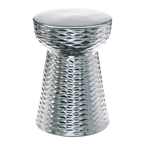 Cyan Chrome Cone Stool