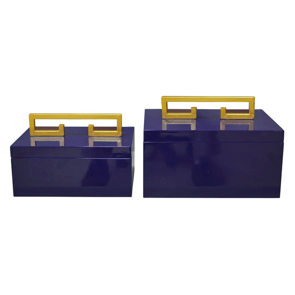 Couture Avondale Boxes in Indigo Blue (Set of 2)