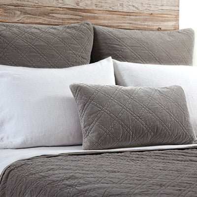 Pom Pom Brussels Coverlet in Pewter