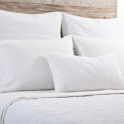 Pom Pom Brussels Coverlet in White