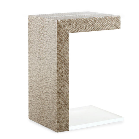 Square Feathers Canon Drink Table in Viper Stone