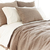 Pine Cone Hill Chambray Linen Sable Duvet Cover