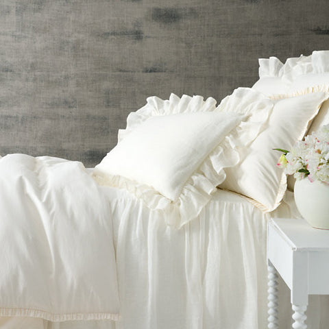Pine Cone Hill Classic Ruffle Ivory Duvet Cover