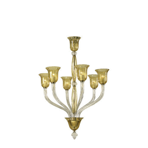 Cyan Design Vetrai 6 Light Chandelier in Clear