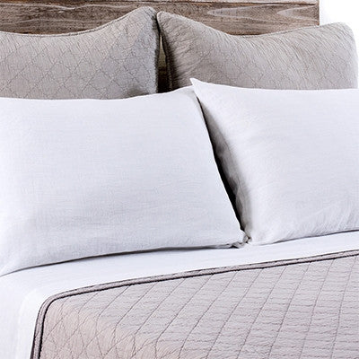 Pom Pom Huntington Large Euro Sham in Taupe