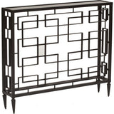 Global Views Open Block Console Table in Black