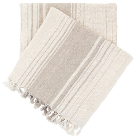 Pine Cone Hill Harbor Stripe Natural Throw