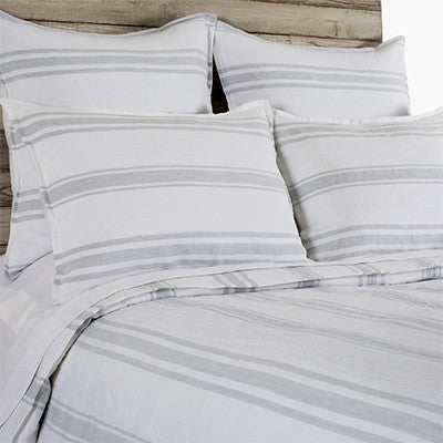Pom Pom Jackson Duvet Cover in Flax and Midnight