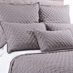 Pom Pom Hampton Coverlet in Grey Stone