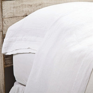 Pom Pom Louwie Flat Sheet in White