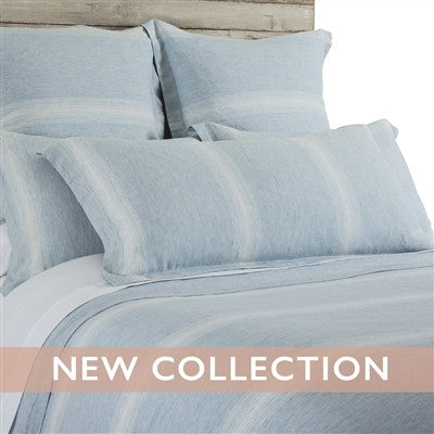 Pom Pom Harper Duvet Cover in Blue/White