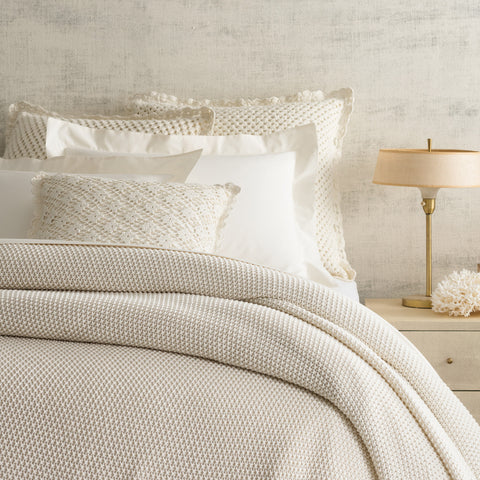 Pine Cone Hill Remy Knit Ivory Blanket