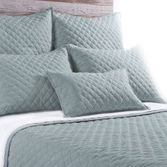 Pom Pom Hampton Coverlet in Sea Foam