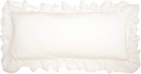 Pine Cone Hill Savannah Linen Gauze Decorative Pillow in Ivory