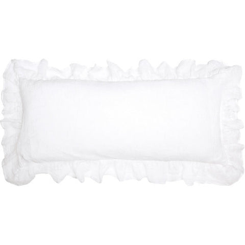 Pine Cone Hill Savannah Linen Gauze Decorative Pillow in White