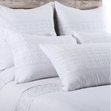 Pom Pom Layla Duvet Cover in White