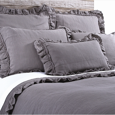 Pom Pom Mathilde Duvet Cover in Grey Stone