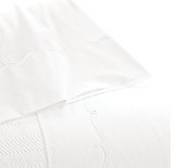 Pine Cone Hill Embroidered Hem Sheet Set in White/White