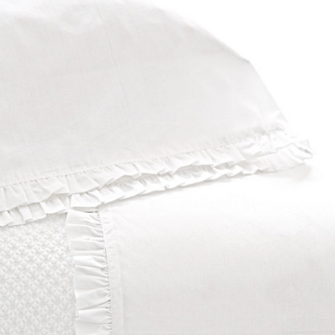 Pine Cone Hill Classic Ruffle White Sheet Set