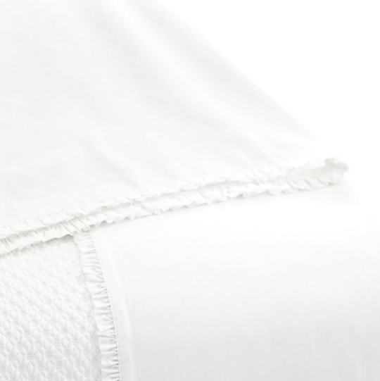 Pine Cone Hill Petite Ruffle White Sheet Set