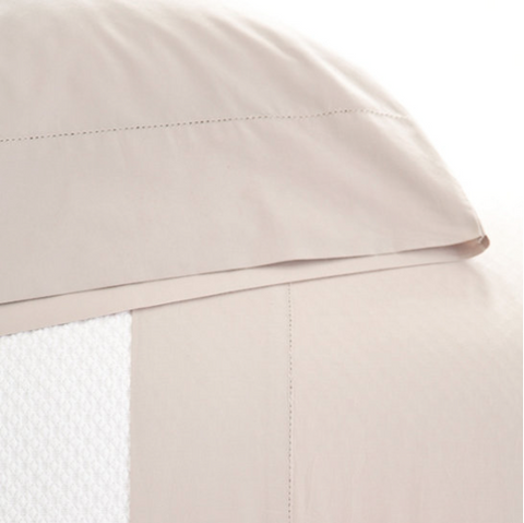 Pine Cone Hill Classic Hemstitch Platinum Sheet Set