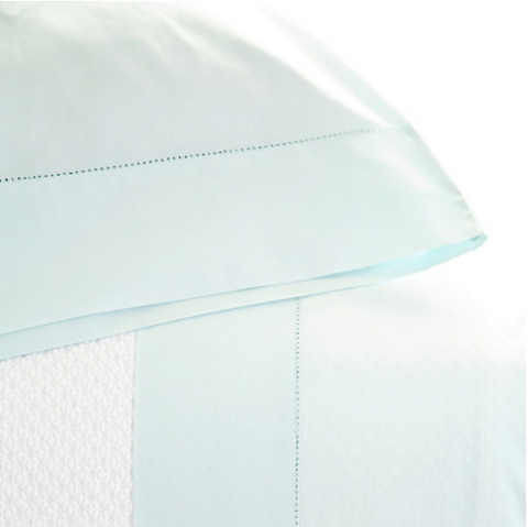 Pine Cone Hill Classic Hemstitch Sky Sheet Set