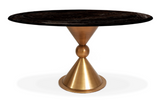 Jonathan Adler Caracas Dining Table in Blackened Elm