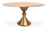 Jonathan Adler Caracas Dining Table in Cerused Elm