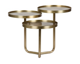 NOIR Tre Metal Table in Brass