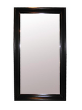 NOIR Large Colonial Floor Mirror in Black