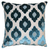 Square Feathers Sky Flowers Decorative Pillow 24x24