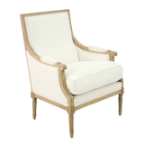 Zentique Louis Club Chair in White